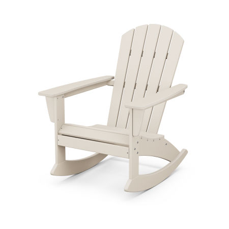 Nautical Adirondack Rocking Chair in Sand