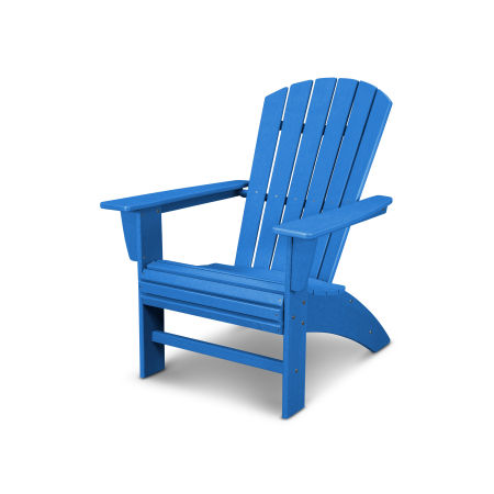Nautical Curveback Adirondack Chair in Vintage Pacific Blue