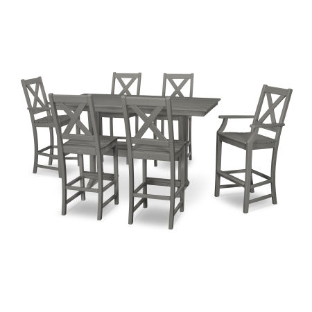Braxton 7-Piece Farmhouse Trestle Bar Set