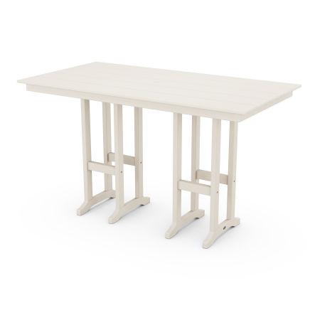 """Farmhouse 37"""" x 72"""" Bar Table in Sand"""