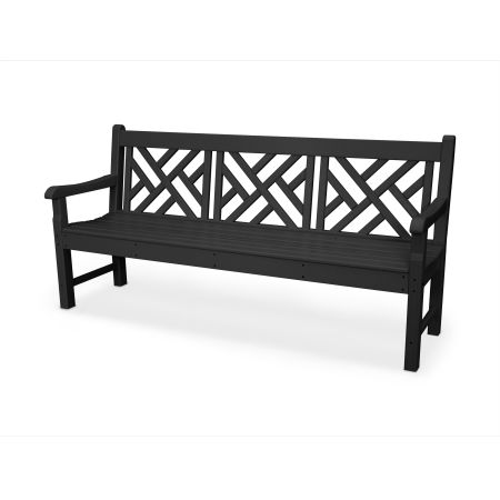 "Rockford 72"" Chippendale Bench in Black"