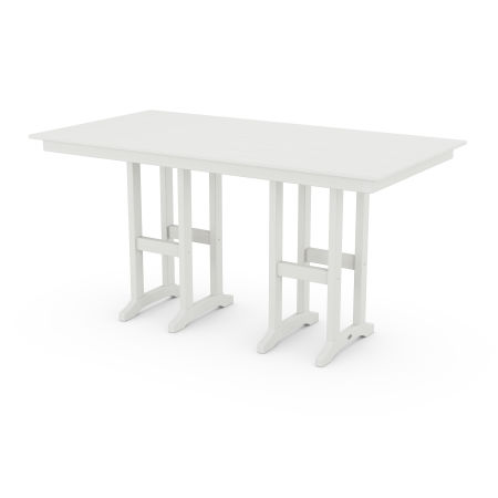 "Farmhouse 37"" x 72"" Counter Table in Vintage White"