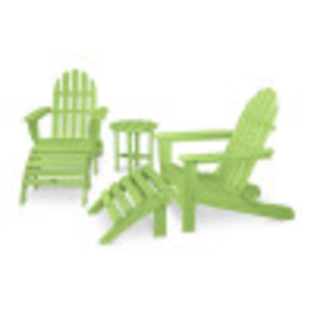 Classic Adirondack 5-Piece Casual Set in Lime