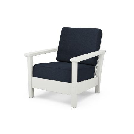 Harbour Deep Seating Chair in Vintage White / Marine Indigo