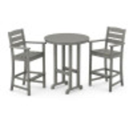 Lakeside 3-Piece Round Bar Arm Chair Set