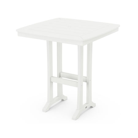 """37"""" Bar Table in White"""