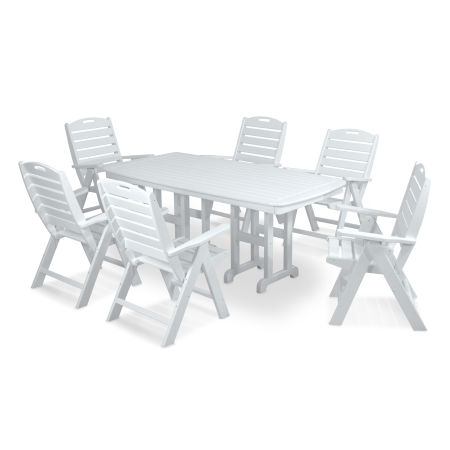 Nautical 7-Piece Dining Set in White