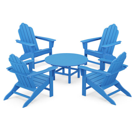 Long Island Adirondack 5-Piece Conversation Group in Pacific Blue