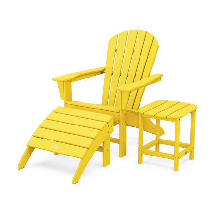 South Beach Adirondack 3-Piece Set in Lemon