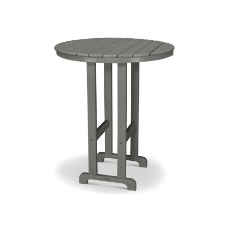 "Classics Round 36"" Bar Table in Slate Grey"