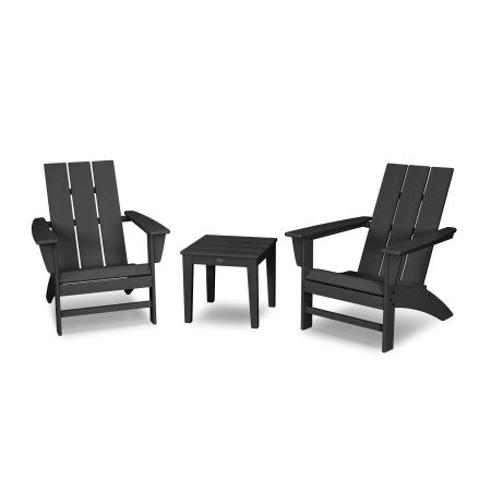 Modern Adirondack 3-Piece Set in Black