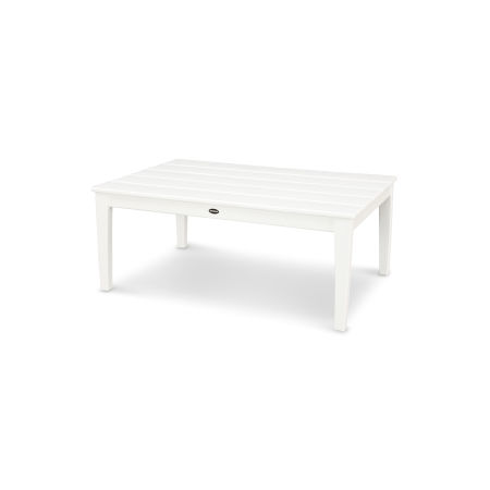 "Newport 28"" x 42"" Coffee Table in White"