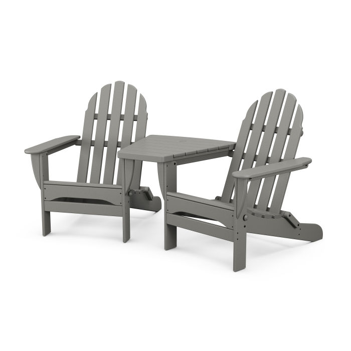 Classic Folding Adirondacks with Connecting Table
