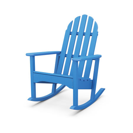 Classic Adirondack Rocking Chair in Pacific Blue