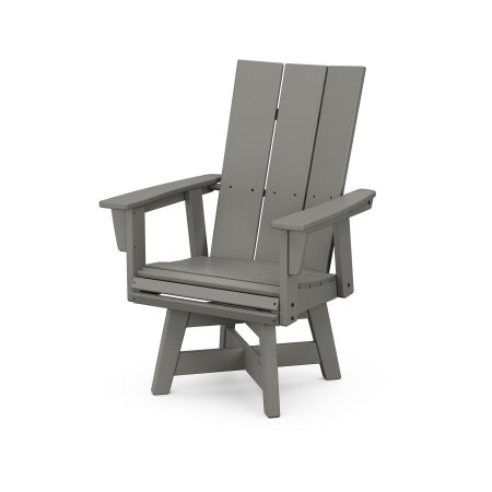 Modern Adirondack Swivel Dining Chair in Slate Grey