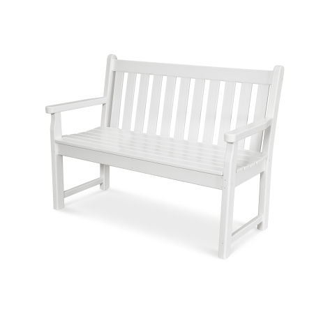 "Traditional Garden 48"" Bench in White"