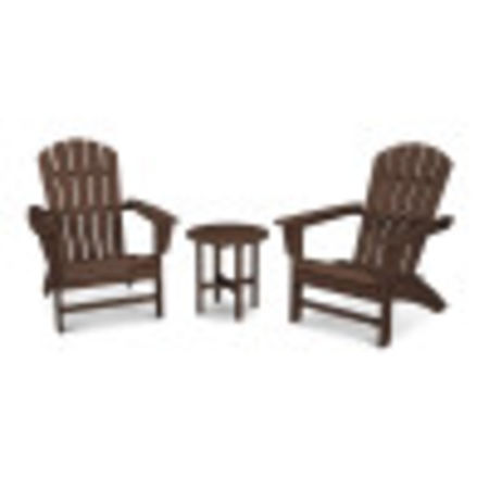 Nautical 3-Piece Adirondack Set in Mahogany