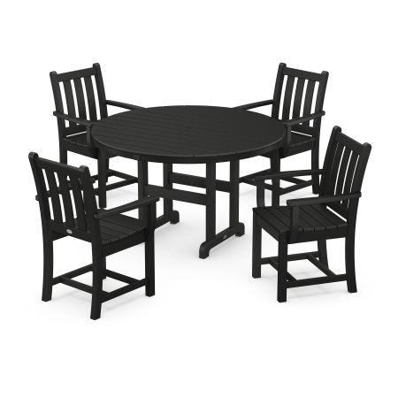 Traditional Garden 5-Piece Dining Set in Black