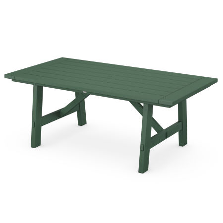 """Rustic Farmhouse 39"""" x 75"""" Dining Table in Green"""