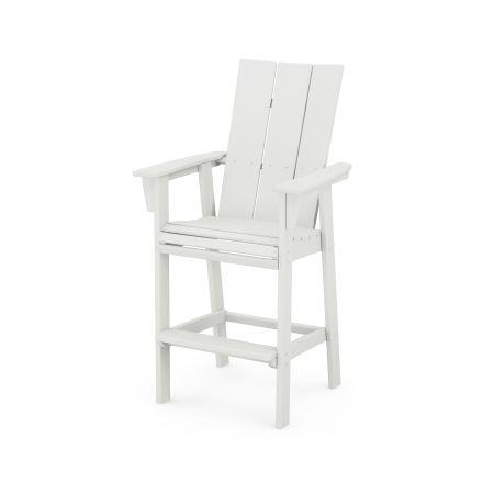 Modern Adirondack Bar Chair in Vintage White