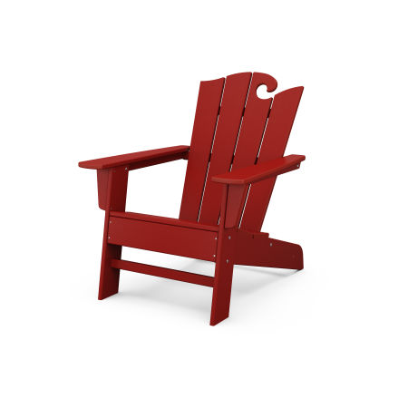 The Ocean Chair in Crimson Red