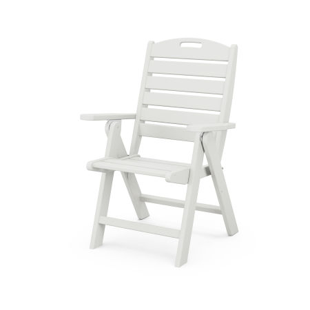 Nautical Highback Chair in Vintage White