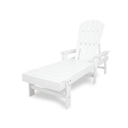 South Beach Chaise in White