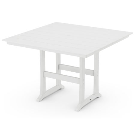 "59"" Bar Table in White"