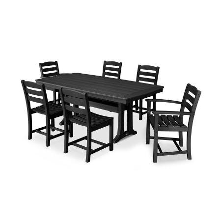 La Casa Café 7 Piece Dining Set in Black