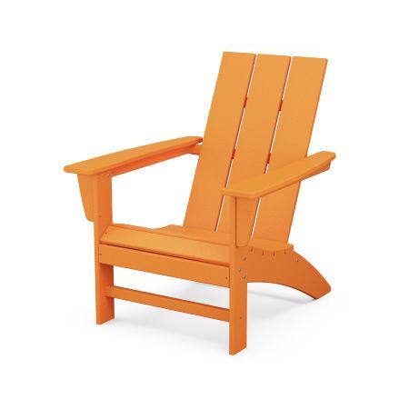 Modern Adirondack Chair in Tangerine