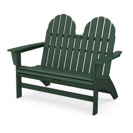 "Vineyard 48"" Adirondack Bench in Green"