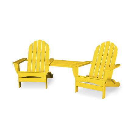 Classic Oversized Adirondack Tete-a-Tete Set in Lemon