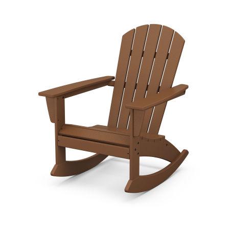 Nautical Adirondack Rocking Chair in Teak