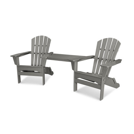 Palm Coast Folding Adirondack Tête-à-Tête Set