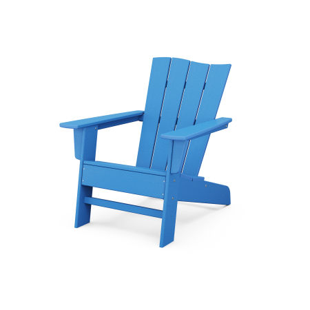 The Wave Chair Left in Pacific Blue