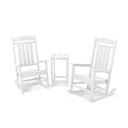 Presidential Rocker 3-Piece Set in White