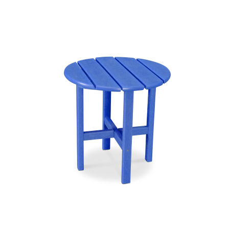 "Round 18"" Side Table in Vintage Pacific Blue"