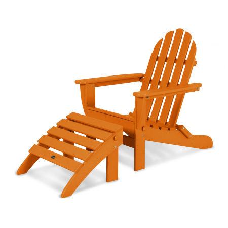 Classic Adirondack 2-Piece Set in Tangerine