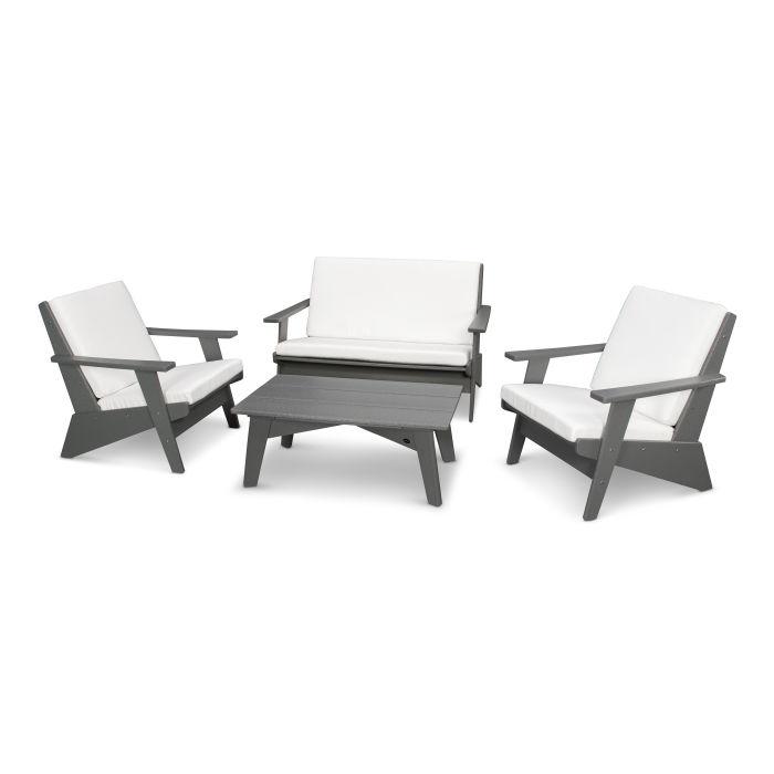Riviera Modern Lounge 4-Piece Set