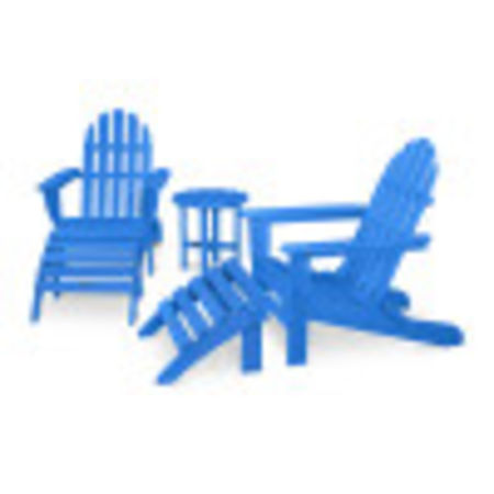 Classic Adirondack 5-Piece Casual Set in Pacific Blue