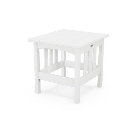 """22"""" x 24"""" End Table in White"""