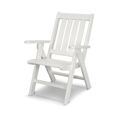 Vineyard Folding Dining Chair in Vintage White