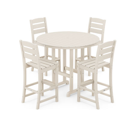 Lakeside 5-Piece Round Bar Side Chair Set in Sand