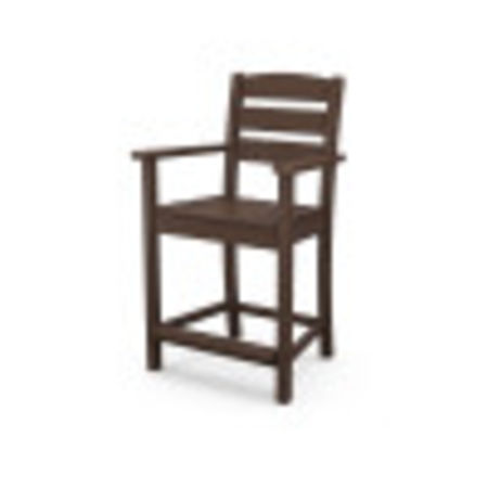 Lakeside Counter Arm Chair in Mahogany