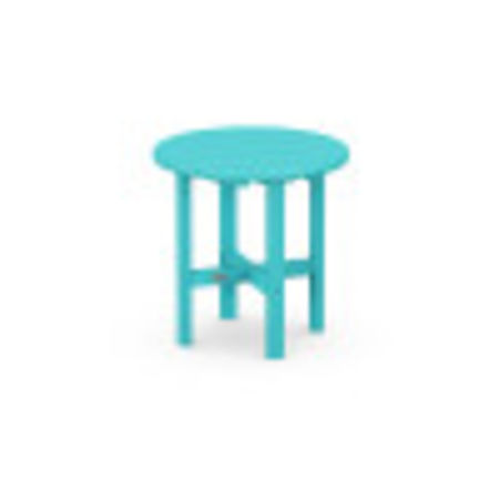 """Round 18"""" Side Table in Aruba"""