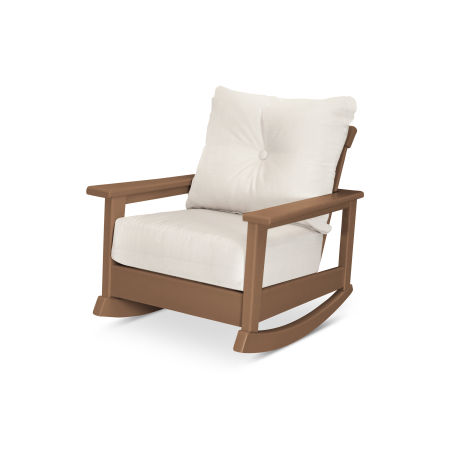Prescott Deep Seating Rocking Chair in Teak / Antique Beige