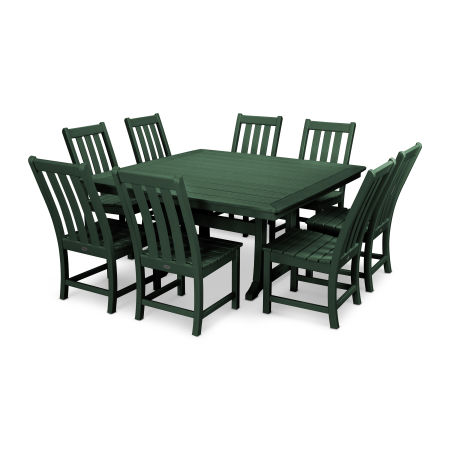 Vineyard 9-Piece Dining Set in Green