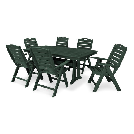 7 Piece Nautical Dining Set in Green