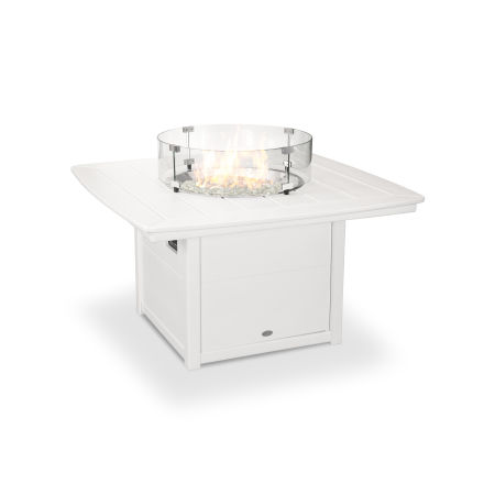 "Nautical 42"" Fire Pit Table in White"