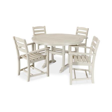 La Casa Café 5 Piece Arm Chair Dining Set in Sand
